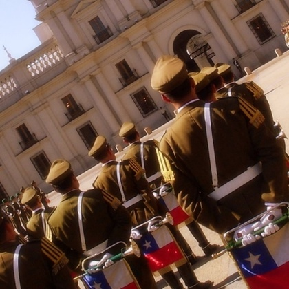 La Moneda's Changing of the Guard